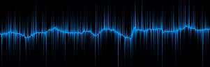 Blue electric waveform